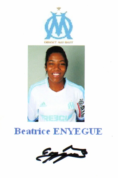 Autographe de Beatrice ENYEGUE