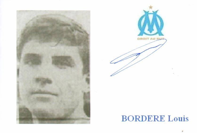 Autographe de Louis BORDERE