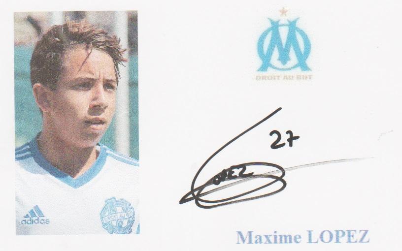 Maillot Extérieur OM Maxime LOPEZ